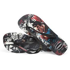 For you, we've selected these Dawn of Justice Flip Flops. And, in case you're aiming for Justice League consideration, it's important not to play favorites. That's why these genuine Havaianas feature Batman on one footbed and Superman on the other.