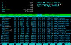 Four Linux server monitoring tools.