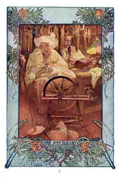 The Beatitudes, with illustrations in color by Alphonse Mucha. Plate I: Blessed are the meek, for they shall inherit the earth. Published in Everybody's Magazine, Christmas, 1906