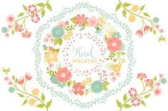 Floral Vector Wreaths - Illustrations