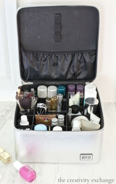 Ultimate train case for packing and organizing beauty products for travel.