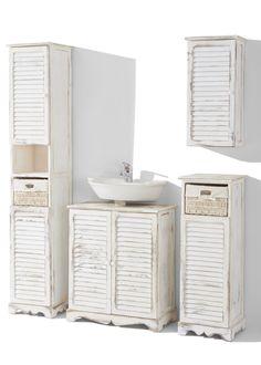 Badezimmermöbel im Landhausstil - weiß | p1 | Pinterest ... | {Badezimmer landhausstil weiss 55}
