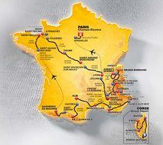 ツール・ド・フランス2013コースマップ