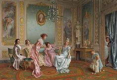 Vittorio Reggianini-Mother Playing with Her Baby