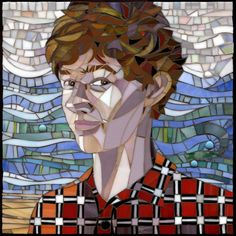 """The Mathius by Carol Wanderer Towler, 12"""" X 12"""" glass mosaic"""