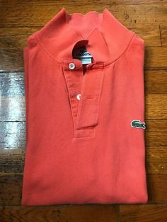 8276528363 Mens pre owned authentic Lacoste Polo Shirt Size 6 Orange #fashion  #clothing #shoes