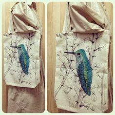 Mavi Çizer: Kumaş Çanta