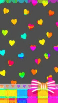 Cute color heart wallpaper