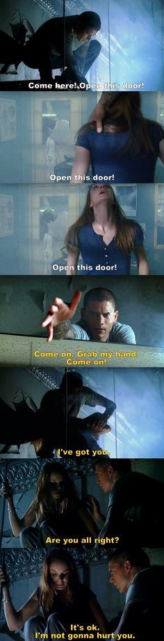 Prison Break S01E07 Michael & Sara.