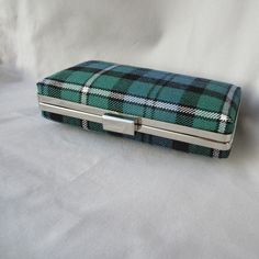 Scottish Clan Forbes Tartan Clutch Bag in Ancient Colours, Wedding Clutch, Bridal Clutch, Ready to ship by burningbricht on Etsy