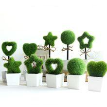 Мебель зеленый искусственный завод бонсай мода небольшой искусственный цветок творческие свадебные украшения цветы с горшок(China (Mainland))