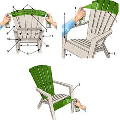 DIY painting plastic furniture going to have to do this to bradens new toddler bed. Painting Plastic Furniture, Plastic Patio Furniture, Lawn Furniture, Diy Outdoor Furniture, Painted Furniture, Furniture Plans, Outdoor Plastic Chairs, Plastic Adirondack Chairs, Outdoor Chairs