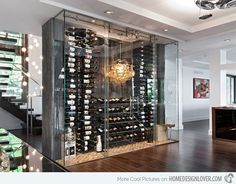 15 Sleek Ideas for Modern Wine Cellars | Home Design Lover
