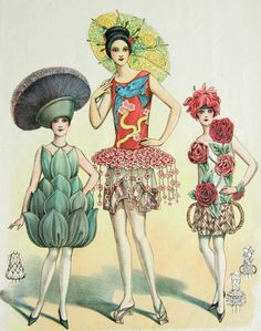 1920s Art Deco costumes. Like babes springing from cabbage plants. Hot!