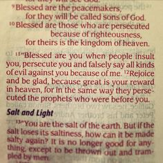 Hallelujah! Blessed are the persecuted. The holy word of God is truth and nothing but the truth. Blessed are the persecuted for greater is their reward in heaven.