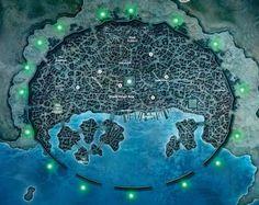 Walled coastal city Fantasy city map Fantasy world map Fantasy map