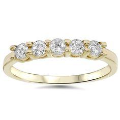 14k Gold 1/ 2ct TDW 5-stone Diamond Ring