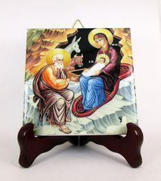 Ehi, ho trovato questa fantastica inserzione di Etsy su https://www.etsy.com/it/listing/239234399/nativity-of-jesus-crib-icon-holy-family