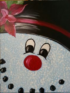 I am going to paint Frosty's Smile at Pinot's Palette - Miamisburg to discover my inner artist!