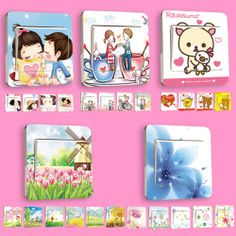 Plastic cartoon wall stickers decorative wall outlet pastoral Korea creative stickers affixed to the switch 28 mounted shipping - eBoxTao, English TaoBao Agent, Purchase Agent. покупка агент