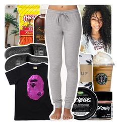 """Untitled #39"" by desirenelle ❤ liked on Polyvore featuring Puma, HUF and Forever 21"