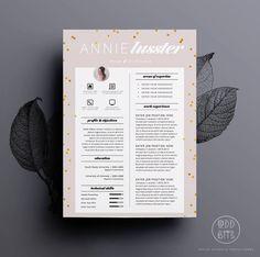 resume cv design cover letter template for word par oddbitsstudio - Resume And Cover Letter Template