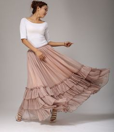 Hey, I found this really awesome Etsy listing at https://www.etsy.com/listing/112919678/maxi-chiffon-skirt-tiered-soft-pleated