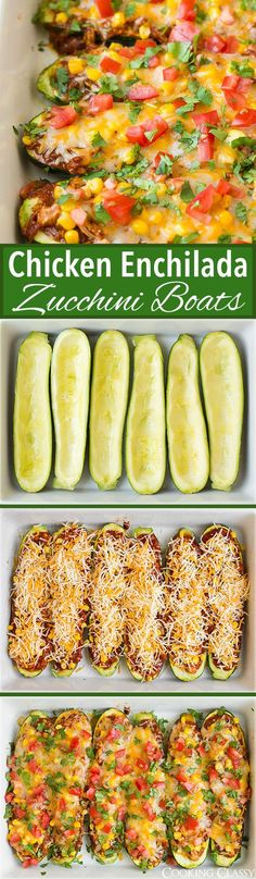 Chicken Enchilada Zucchini Boats - these are SO SO GOOD!! I was skeptical but I've already made them twice! Everyone loved them....
