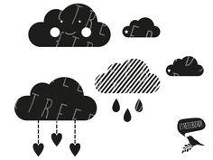 """Weiteres - Plotterdatei """"Wolken-Set"""" - ein Designerstück von treeebird bei DaWanda"""