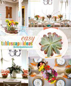 tablescape ideas - the handmade homethe handmade home