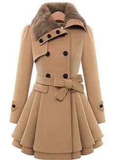 Manteaux et blousons femme · Ramonala Women s Fleece Jacket Duffle Style  Toggle Hoodie Pea Coat Winter Ramonala http    f6d732f0d70d