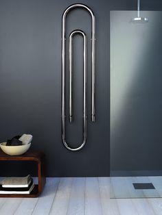 ♂ Modern minimalist interior design bathroom Steel Decorative radiator GRAFFE by SCIROCCO H | #Design Bruna Rapisarda, Lucarelli-Rapisarda