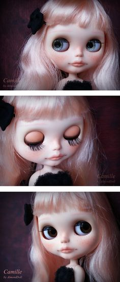 Reserved for Suzi custom Blythe doll,  ooak  handpainted art doll by AlmondDoll payment plan 5 of 5. €121.75, via Etsy.