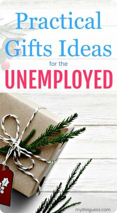 Do you have a loved one on your gift giving list that's currently unemployed or out of work? Here are many thoughtful, yet practical Gifts Ideas for the Unemployed - My Life, I Guess #giftguide #giftideas #unemployed #laidoff #jobseeker #jobhunt via @mylifeiguess