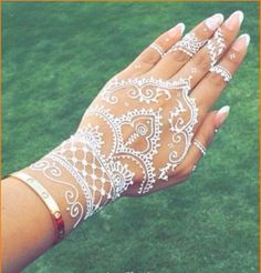 Beautiful white mehndi designs