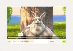 Free Custom Video Player Design (PSD)