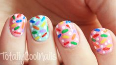 Easy Sprinkle Nails, Click the photo for a tutorial.