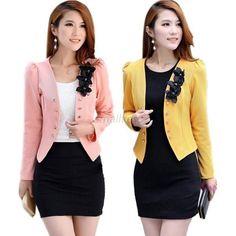 Moda Mujer Damas Tops Slim Suit ol Blazer Flor corto Abrigo Chaqueta Xxl T31 in Ropa, calzado y accesorios, Ropa para mujer, Abrigos y chaquetas | eBay