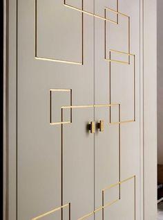 William Garvey: handmade door with gold leaf detail