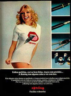 anuncio produtos rotring - 1979