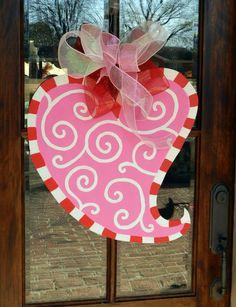 Swirly Valentine Door Hanger by brookesullivan on Etsy, $33.00