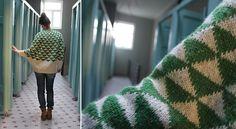 Garland Sweater-poncho - Pickles // Free pattern