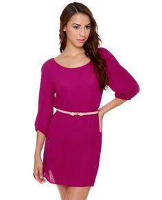 Gem of the Woods Belted Magenta Dress   #lovelulus
