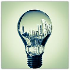 Lightbulb filled with water.