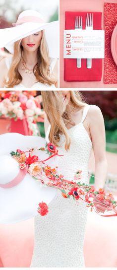Hochzeitsinspirationen in Koralle- und Mohnblumentönen von Jordan Brittley - Hochzeitsguide