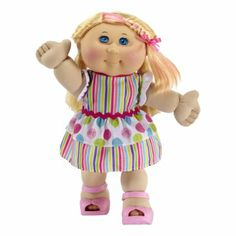 Amazon.com: Cabbage Patch Kids Celebration Girl Doll, Blond Hair and Blue Eyes: Toys  Games
