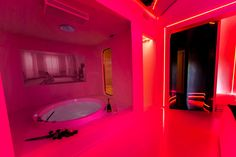 Neon Bedroom, Room Decor Bedroom, Bathroom Design Luxury, Modern Bathroom Decor, Dream House Interior, Dream Home Design, Dream Bathrooms, Dream Rooms, Colorful Apartment