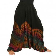 Batik harem pants, rayon (viscose) -