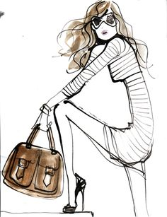 My favorite fashion illustrator Izak Zenou...