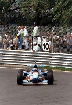 Alexander Wurz (AUT) (Mild Seven Benetton Renault), Benetton B197 - Renault RS9 3.0 V10 (RET).  1997 Canadian Grand Prix, Circuit Gilles Villeneuve.  © Stupix